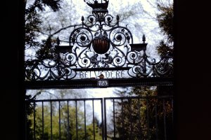 Zeeview (later Belvedere) Estate Gate - front entrance to the habitat of the headless horseman and the haunt of Rip Van Winkle