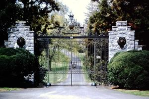 Behind Estate Gates - The entrance to Belvedere (formerly Zeeview)