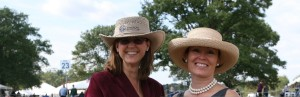 Lisa & Gail show off their hats at Morris & Essex