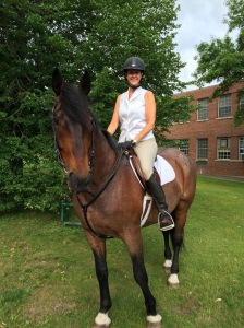 Oz and me head out on a trial ride from the Fairfield Hills Campus
