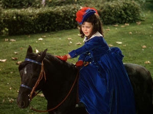 Bonnie rides Admiral side saddle in Gone with the Wind