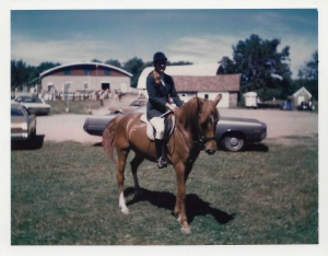 Even Mom showed Ginger at Horse Shows at Sweetbriar Farm