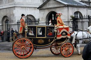 The Glass Coach returns from Opening of Parliament