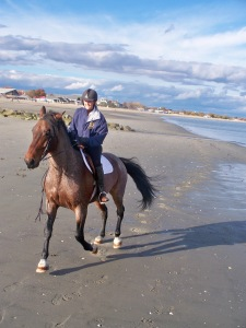 Cantering on the beach - best footing ever!