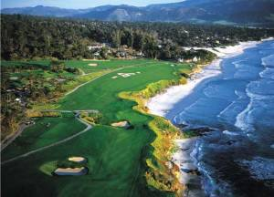 Pebble Beach Golf Course  in Monterey, CA ~ Great Pacific Ocean beach ride