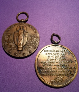 Reverse of the medals - The Great War of Civilization & First Division 1917-1919