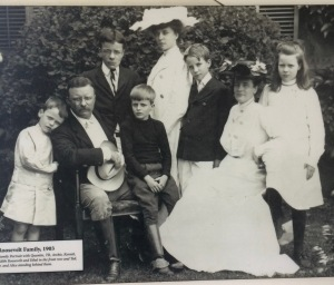 Teddy Roosevelt's family ~ Jack belonged to Kermit, fourth from the left in the front row, standing next to his seated mother Edith