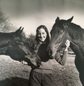 Linda Kossick Langmeier and her childhood horses