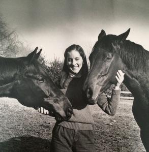 Linda Kossick Langmeier and her childhood horses
